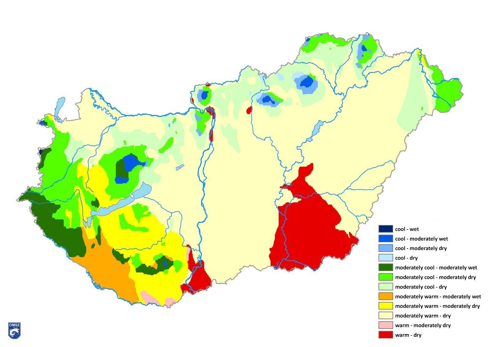 Figure: The Climatic Regions In Hungary (after György Péczeli)