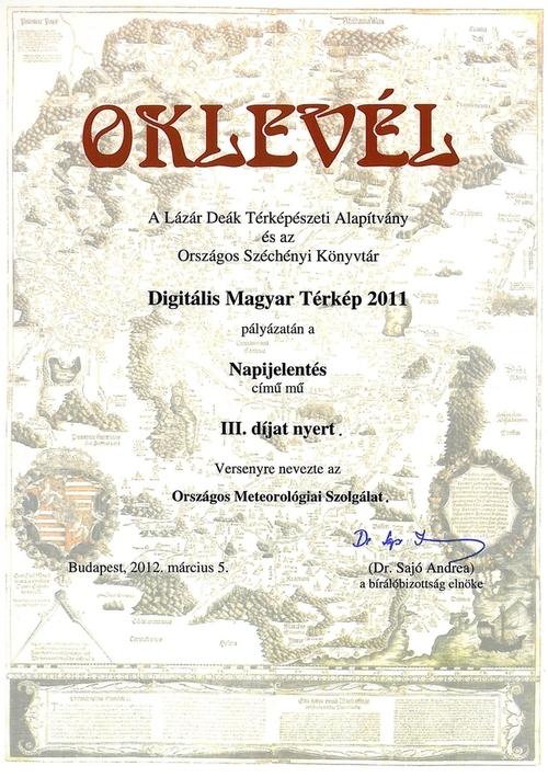 OSZK díj