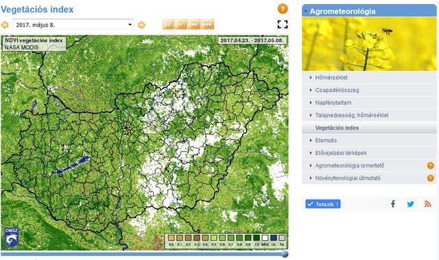Muholdas Vegetacios Index Terkepek Ujdonsagok Met Hu